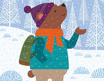 in the snow / digital work