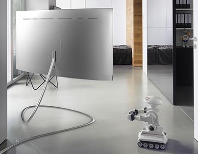 Samsung x Dezeen STRATOS QLED TV Stand
