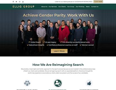 Management organizations website design