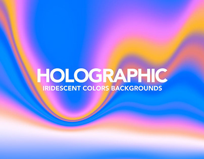 Neon Holographic Abstract Backgrounds