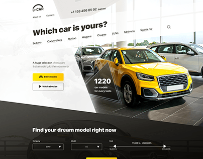 Landing page for cars selling