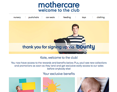 my mothercare Email Designs