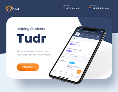 Tudr - Case Study - Students App Redesign