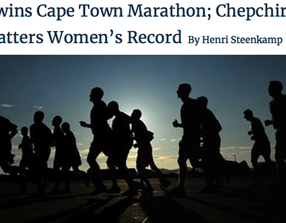 Koech wins Cape Town Marathon