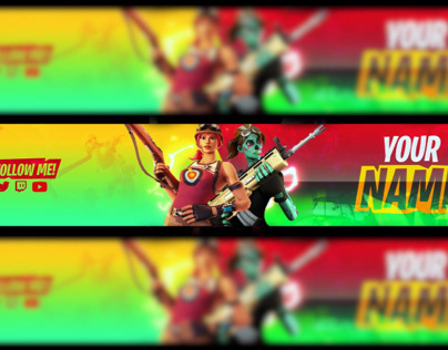 Banner Gfx Fortnite Logo Banner Youtube Projects Photos Videos Logos Illustrations And Branding On Behance