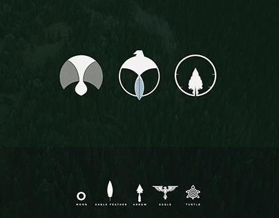 American Indian Symbols Logos