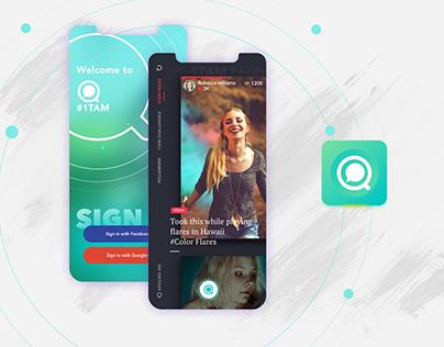 1Tam | Mobile app concept for socializers
