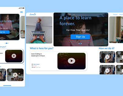 Online Tutorial Landing Page