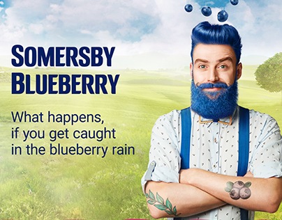 "Somersby Blueberry Launch ""Blueberry Rain"""
