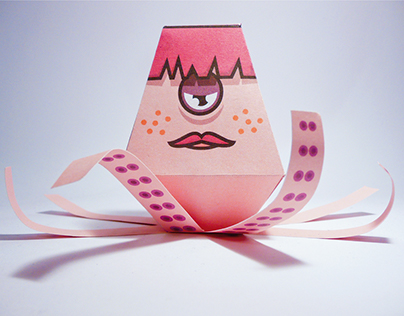 Octopus Monster - paper toy