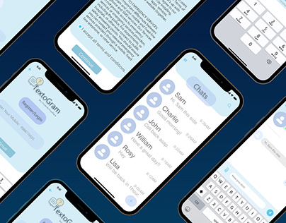 Texting Applicatiom UI/UX design