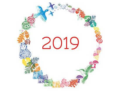 Stamps Calendar 2019