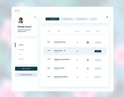 Minimal planner app for teams working in Agile