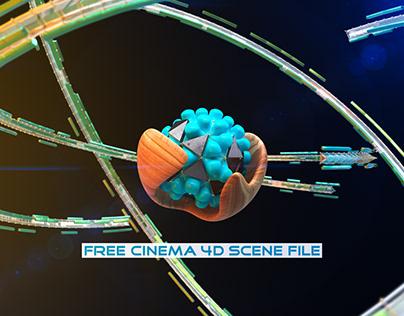 Free Cinema 4D R23 Nodes Scene