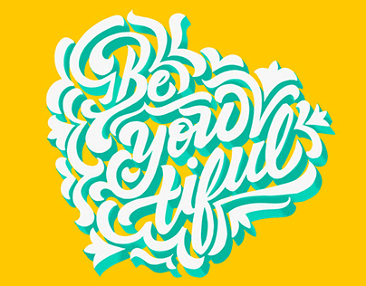Be-you-tiful Lettering design