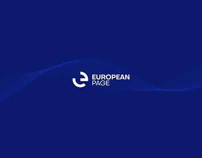 european page | logo