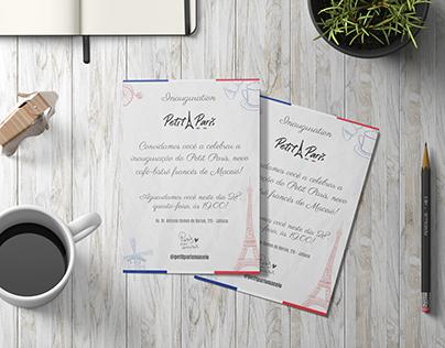 Convite de Inauguração - Petit Paris