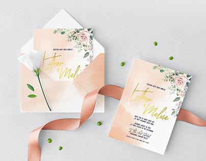 Our DIY Wedding Invitation
