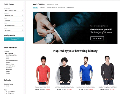 Shopclues' Listing Page (Download PSD File)