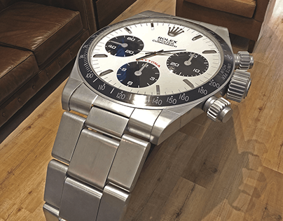 An exclusive table design for Rolex
