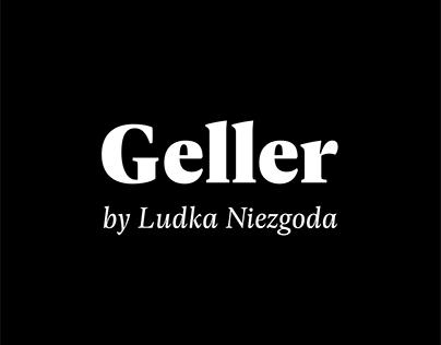 Geller Typeface promotional materials