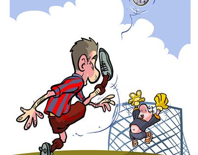 Cartoon soccer players