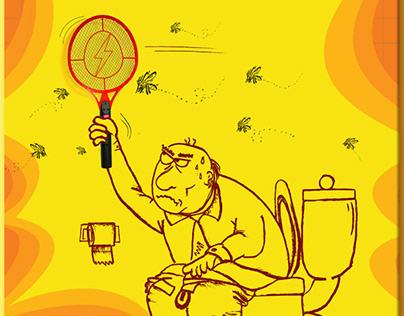 Zzzapakk Mosquito Swatter Campaign