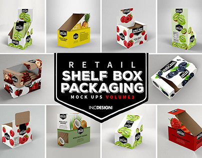 Mockup Template: Retail Shelf Box Packaging Vol 03