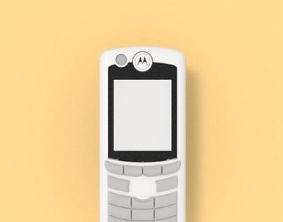 Motorola E770 - 3D Render