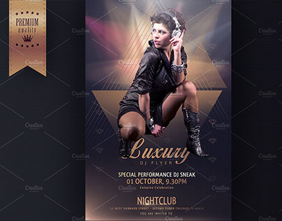 Luxury DJ Flyer