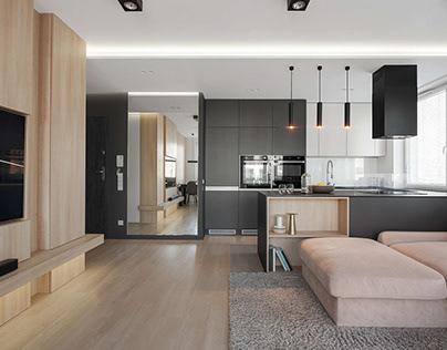 Modern Apartment by Hi-Light Architects