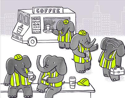 Elephants on Break