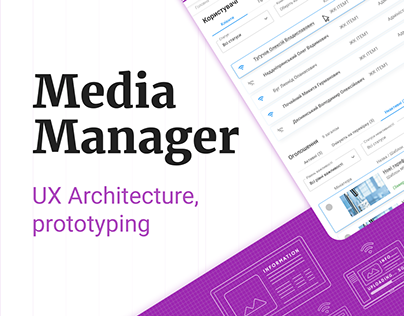 📺 Media Manager — Admin panel for Display Advertising
