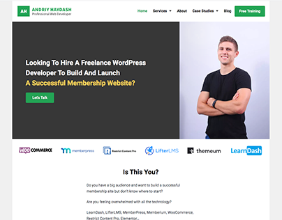 Freelance WordPress Developer Website