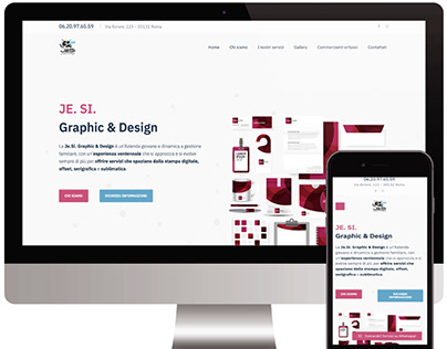 JE. SI. Graphic & Design sito web vetrina