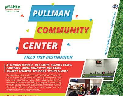 Pullman Community Center Flyer Design 2019 [Design]