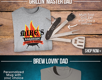 "Father's Day ""Your Name"" T-Shirts Email Design"