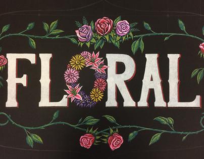 Floral Dept Header Sign - WFM Chalk Illustration