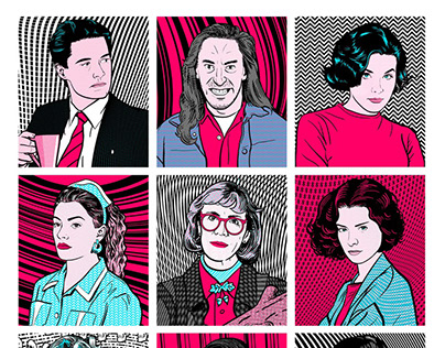 Psychedelic Twin Peaks Characters