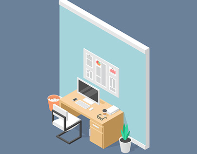Office Room Isometric