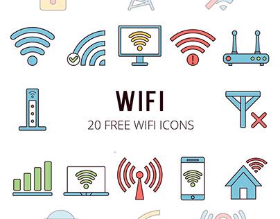 Wi-Fi Vector Free Icon Set