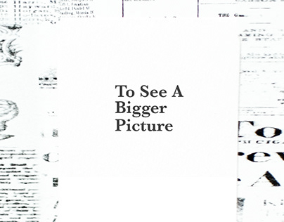 To See A Bigger Picture - Awareness Campaign