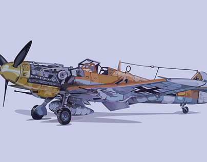 BF-109 Vector Graphics