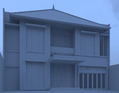Konsep Rumah Moderen Tropis di Darmahusada Selatan