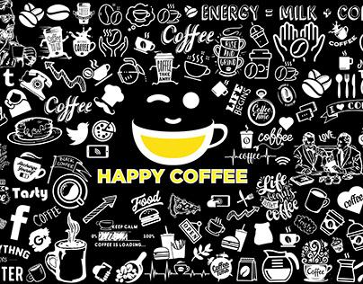 coffee shop decal/wall art/mural