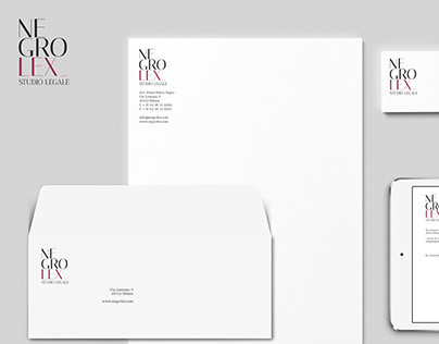 Corporate identity Negrolex, Law firm.