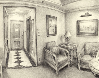 Sketching hotel rooms III