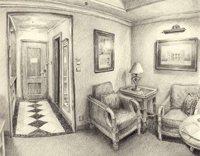 Sketching hotel rooms III