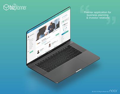 BizPlanner UI & UX Design