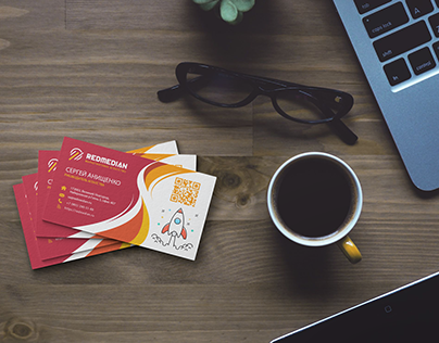 BUSINESS CARD REDMEDIAN COMPANY
